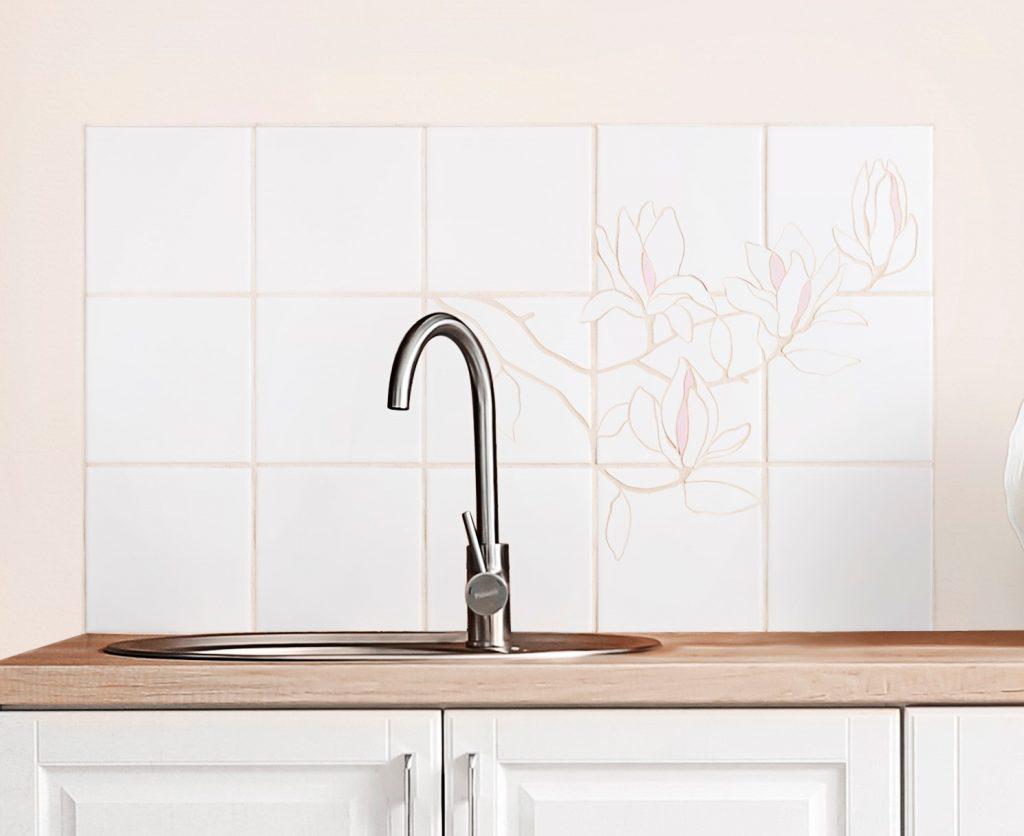 Backsplash til håndvask eller komfur