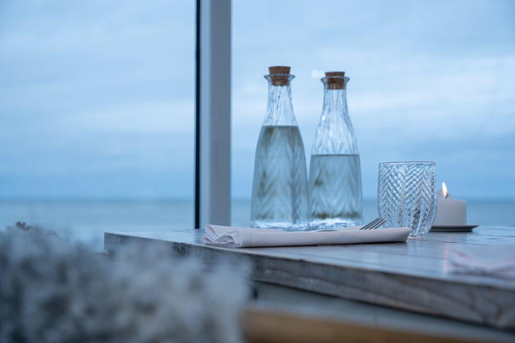 Sildeben Drink Glass og Flaske